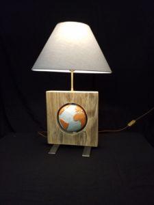lampe mappemonde