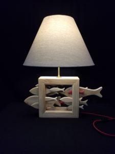 lampe banc de poissons