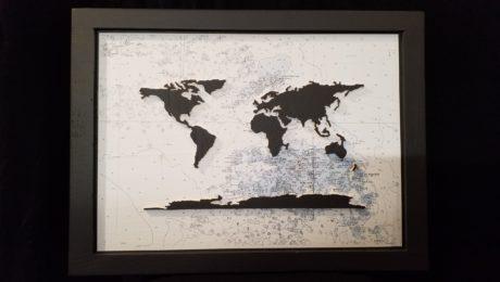 carte du monde les glenan