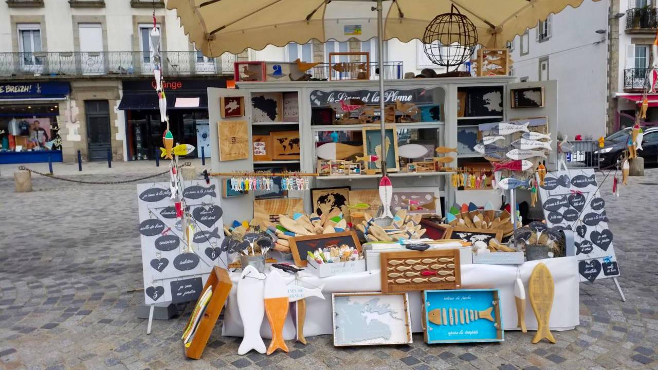 concarneau déco recyclée sur les marchés du Finistère